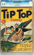Golden Age (1938-1955):Miscellaneous, Tip Top Comics #36 (United Features Syndicate/Standard, 1939) CGC FN- 5.5 Off-white to white pages....