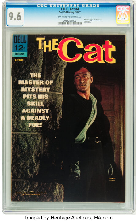 T.H.E. Cat #4 (Dell, 1967) CGC NM+ 9.6 Off-white to white pages....