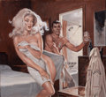 Pin-up and Glamour Art, EARL NOREM (American, 20th Century). Tonight's Wife, magazinestory illustration, 1976. Gouache on paper. 18.75 x 20.25 ...