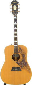 Musical Instruments:Acoustic Guitars, 1966 Epiphone FT-120 Natural Acoustic Guitar, Serial # 348807....