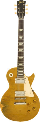 1958 Gibson Les Paul Standard Gold Top Solid Body Electric Guitar, Serial # 8 2788