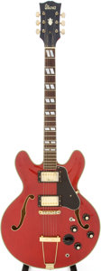 Musical Instruments:Electric Guitars, 1970s Ibanez ES-345 Lawsuit Copy Red Semi-Hollow Body Electric Guitar....