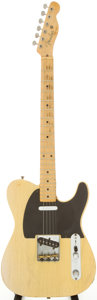 Musical Instruments:Electric Guitars, 1952 Fender Telecaster Blonde Solid Body Electric Guitar, Serial #4118....
