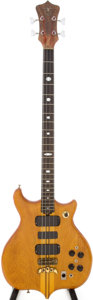 Musical Instruments:Electric Guitars, 1976 Alembic Series 1 Natural Electric Bass Guitar....
