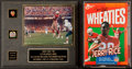 "Football Collectibles:Photos, Jerry Rice ""Record Breaking"" Signed Photograph Display and WheatiesBox. ..."