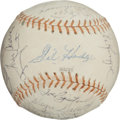 Baseball Collectibles:Balls, 1969 New York Mets Team Signed Baseball (28 Signatures) - MiracleChampionship Season! ...