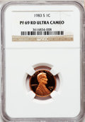 Proof Lincoln Cents: , 1983-S 1C PR69 Red Ultra Cameo NGC. NGC Census: (390/0). PCGSPopulation (1559/32). Numismedia Wsl. Price for problem free...