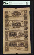 Obsoletes By State:Ohio, Munroe Falls, OH- Munroe Falls Manufacturing Co. $5-$2-$1-$1 Wolka1772-04 Uncut Sheet. ...