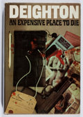 Books:Mystery & Detective Fiction, Len Deighton. An Expensive Place to Die. Jonathan Cape,1967. Enclosure at rear. Foxing. Very good....