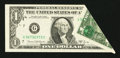 Error Notes:Foldovers, Fr. 1907-G $1 1969D Federal Reserve Note. Very Fine-ExtremelyFine.. ...
