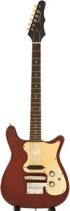 Musical Instruments:Electric Guitars, 1965 Epiphone Olympic Red Solid Body Electric Guitar, Serial #339561....