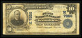 National Bank Notes:Missouri, Versailles, MO - $10 1902 Plain Back Fr. 624 The First NB Ch. #(M)7256. ...