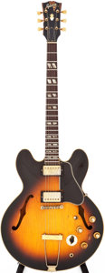 Musical Instruments:Electric Guitars, 1966 Gibson ES-345TD Sunburst Semi-Hollow Body Electric Guitar,Serial # 853346....