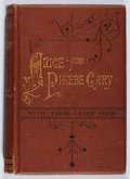 Books:Biography & Memoir, Mary Clemmer Ames. A Memorial of Alice and Phoebe Cary. Hurdand Houghton, 1873. Hinge cracked and lacking ffep. Fox...