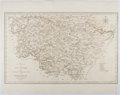 Books:Maps & Atlases, [Map]. Nineteenth Century Map of West Riding of Yorkshire. Approx. 17 x 21.25 inches. Minor toning. Near fine....