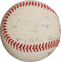 Autographs:Baseballs, 1960 Satchel Paige Single Signed Baseball...