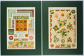 Books:Prints & Leaves, Owen Jones. Two Prints from The Grammar of Ornament. 1910. Approx. 16.5 x 12.25 inches to matted edge. Near fine.... (Total: 2 Items)