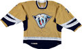 Hockey Collectibles:Uniforms, 2006-07 J.P. Dumont Game Worn Nashville Predators Jersey - RareAlternate Style!...