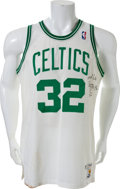 Basketball Collectibles:Uniforms, 1987-88 Kevin McHale Game Worn Signed Boston Celtics Jersey. ...
