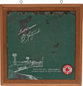 Baseball Collectibles:Others, 1976 Fenway Park Green Monster Large Piece from Jimmy Fund Charity. ...