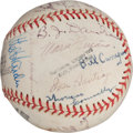 Autographs:Baseballs, 1955 Indianapolis Indians Team Signed Baseball with Hall of FameUmpire Tom Connolly....