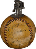 Autographs:Baseballs, 1931 Tour of Japan Team Signed Baseball Cigarette Lighter....