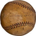 Autographs:Baseballs, Circa 1929 Jimmie Foxx Single Signed Baseball....