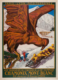 Miscellaneous Collectibles:General, 1924 Chamonix Mont-Blanc Winter Olympics Poster....