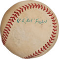 "Autographs:Baseballs, 1960's Urban ""Red"" Faber Single Signed Baseball. ..."
