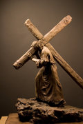Music Memorabilia:Memorabilia, Bronze Sculpture of Christ - Artist Angela Johnson . Benefitting Mercury One . ...