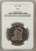 Bust Half Dollars: , 1813 50C Fine 12 NGC. NGC Census: (4/713). PCGS Population (8/580).Mintage: 1,241,903. Numismedia Wsl. Price for problem f...