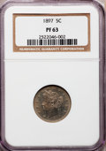 Proof Liberty Nickels: , 1897 5C PR63 NGC. NGC Census: (37/327). PCGS Population (81/354).Mintage: 1,938. Numismedia Wsl. Price for problem free NG...