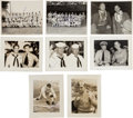Autographs:Photos, Early 1940's World War II Baseball Photographs Lot with Ott, DiMaggio Signed Images....