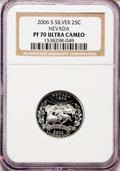 Proof Statehood Quarters, 2006-S 25C Nevada Silver PR70 Ultra Cameo NGC. NGC Census: (0).PCGS Population (422). Numismedia Wsl. Price for problem f...