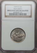 1999-D 25C New Jersey Brilliant Uncirculated NGC, 1999-P 25C Delaware Brilliant Uncirculated NGC, 2000-P 25C Virginia Br...