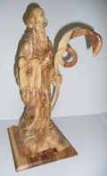 Music Memorabilia:Original Art, Olive Wood Carving of Moses with Serpent Staff and Ten Commandments from Jimmy's Bazaar. Benefitting Mercury One. ...