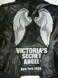 Movie/TV Memorabilia:Memorabilia, Victoria's Secret Angel Leather Jacket from Kylie Bisutti PLUS 2VIP Tickets to July 28th Restoring Love Women's Conference ...