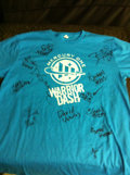 Movie/TV Memorabilia:Autographs and Signed Items, Signed Warrior Dash T-Shirt. Benfitting Mercury One. ...
