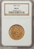 Liberty Eagles: , 1892 $10 MS61 NGC. NGC Census: (3266/3574). PCGS Population(1461/1541). Mintage: 797,400. Numismedia Wsl. Price for proble...