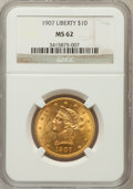 Liberty Eagles: , 1907 $10 MS62 NGC. NGC Census: (9652/6807). PCGS Population(6717/4029). Mintage: 1,203,973. Numismedia Wsl. Price for prob...