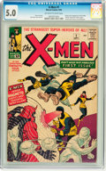 Silver Age (1956-1969):Superhero, X-Men #1 (Marvel, 1963) CGC VG/FN 5.0 Off-white to white pages....
