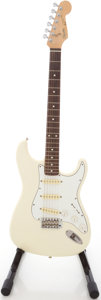 Musical Instruments:Electric Guitars, 1988 Squier by Fender Stratocaster White Solid Body ElectricGuitar, #E807215....