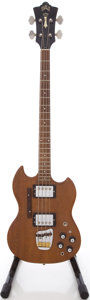 Musical Instruments:Bass Guitars, 1973 Guild JSB-2 Mahogany Electric Bass Guitar, Serial # 82725....