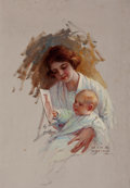 Pulp, Pulp-like, Digests, and Paperback Art, WILLIAM HENRY DETHLEF KOERNER (American, 1878-1938). At the Portof Embarkment, Woman's Home Companion magazine story illu...