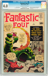 Fantastic Four #1 (Marvel, 1961) CGC VG 4.0 Off-white to white pages