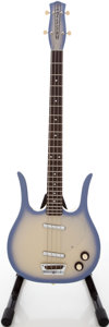 Musical Instruments:Bass Guitars, Recent Danelectro Longhorn Mystic Purple Lavender Frost-BurstElectric Bass Guitar....