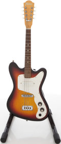 Musical Instruments:Electric Guitars, Circa 1960's Framus Sunburst Solid Body Electric Mandolin Guitar,#38227 74K....