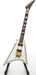 Musical Instruments:Electric Guitars, 1992 Jackson RR-1 White Solid Body Electric Guitar, #LTD014....