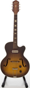 Musical Instruments:Electric Guitars, Circa 1950's Harmony H60 Sunburst Archtop Electric Guitar....