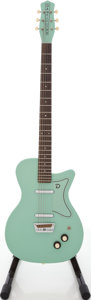 Musical Instruments:Electric Guitars, Recent Danelectro Baritone Surf Green Solid Body Electric Guitar,#049907372....